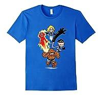 Fantastic Four Shirts Royal Blue
