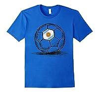 Argentina Argentine Flag Design On Soccer Ball Shirts Royal Blue