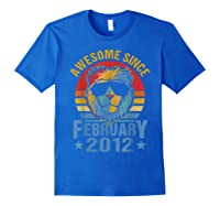 Lion 2012 Awesome February 8th Birthday Gifts King T-shirt Royal Blue