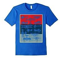 Aneisha Vintage Airplane Gift For Pilot Aviation Students Shirts Royal Blue