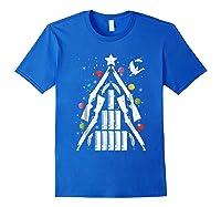 Shotgun Christmas Tree For Duck Hunters Shirts Royal Blue
