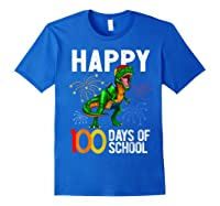 100 Days Of School Dinosaur T Rex Pencil Backpack Gift Shirts Royal Blue
