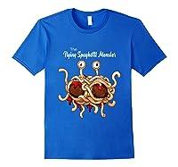 Flying Spaghetti Monster Pastafarian Vintage Shirts Royal Blue