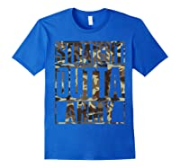 Straight Outta Army Veteran American Military Pride Gift Shirts Royal Blue