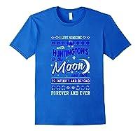 Huntington's Disease Awareness Christmas Shirts Royal Blue