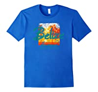 Belize Ambergris Caye Retro Vintage Travel Shirts Royal Blue