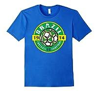 Football Is Everything - Brazil Vintage T-shirt Royal Blue