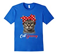 Funny Cat Granny Shirt For Cat Lovers-mothers Day Gift Royal Blue