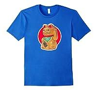 Lucky Cat Charm Winkekatze Maneki Neko Japanese Out Premium T-shirt Royal Blue