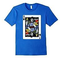 Star Trek Original Series Spock Playing Card Shirts Royal Blue