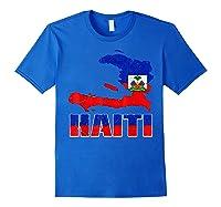 Vintage Haitian Flag I Love Haiti Shirts Royal Blue