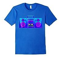 Boombox Trippy Hip Hop Rave Shirts Royal Blue