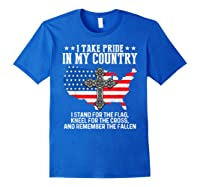 Take Pride N My Country Usa Flag 4th July Patriotic Shirts Royal Blue