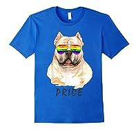 American Bully Sunglasses Pride Lgbt Rainbow Flag Shirts Royal Blue