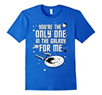 Star Trek Only One For Me Valentine's Day Graphic Shirts Royal Blue