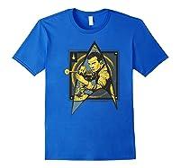 Star Trek Captain James Tiberius Kirk Fan Art Shirts Royal Blue