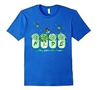Hydrangea Flower Butterfly Ney Disease Awareness Shirts Royal Blue