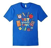 1st Grade Diva Girls First Day Of School Shirts Royal Blue
