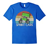Vintage Sprint Cars T-shirt Royal Blue