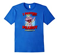 Peanut Bakersfield, Ca Raglan Baseball Ts Shirts Royal Blue