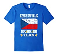 Czech Republic Drinking Team Funny Beer T Shirt Royal Blue
