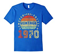 50th Birthday Gifts Retro Vintage 1970 Limited Edition T-shirt Royal Blue