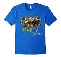 Sevilla Spain Watercolor Family Souvenir Shirts Royal Blue