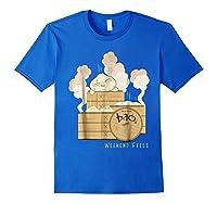Pixar Bao Weekend Woodblock Feels Graphic Shirts Royal Blue