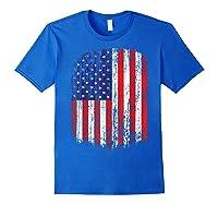 Distressed American Flag, Patriotic Shirts Royal Blue