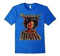 Phenoal Natural Hair Gift For Black Woman Shirts Royal Blue