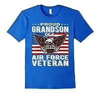 Proud Grandson Of Air Force Veteran Patriotic Military Gifts Shirts Royal Blue