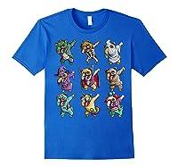 Funny Pug Halloween Pug Pumpkin Dabbing Pug Unicorn Witch Shirts Royal Blue