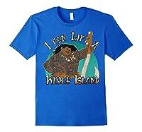 Moana Maui I Can Lift A Whole Island Graphic Shirts Royal Blue
