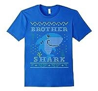 Brother Shark Ugly Christmas Sweater Design Nephew Shirts Royal Blue