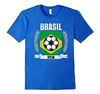 Brazilian 2018 Football Brazil Soccer Fan T-shirt Royal Blue