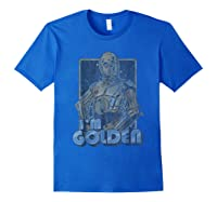 Star Wars C-3po I\\\'m Golden Pose Graphic T-shirt Royal Blue