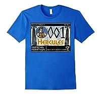 Disney Hercules Grecian Marathon Poster T-shirt Royal Blue