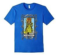 The Queen Of Wands Tarot T-shirt Royal Blue