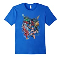 Justice League Refuse To Give Up Shirts Royal Blue