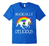 Magically Delicious Unicorn St Patrick's Day Ns Shirts Royal Blue