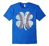 St Patrick\\\'s Day Shamrock Baseball Saint Paddy\\\'s T-shirt Royal Blue