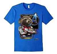 Marvel Avengers Endgame Rocket Logo Graphic T-shirt Royal Blue