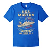 Uss Morton (dd-948) T-shirt Royal Blue