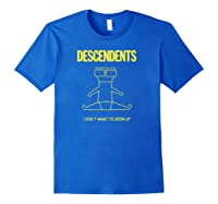 Descendents I Don't Want To Grow Up Merchandise Shirts Royal Blue