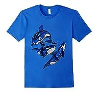Pod Of Orca Whales T-shirt Royal Blue