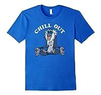 Lion King Rafiki Chill Out Meditation Shirts Royal Blue