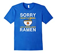 Kawaii Ra Japanese Noodle Food Anime Funny Shirts Royal Blue