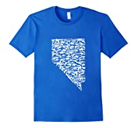State Of Nevada Made Up Of Guns 2nd Adt Rights Shirts Royal Blue