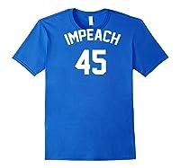 Impeach 45 Football Sport Style Rally T Shirt Royal Blue