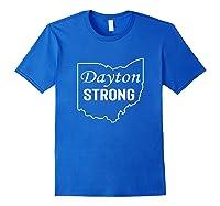 Dayton Strong Dayton State Map Shirts Royal Blue